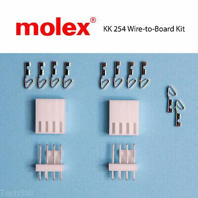 Genuine Molex Kk 254 Kit 4-pos Wire To Board 2.54mm 0.1 Pitch 22-30 Awg