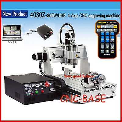 Usb Four 4axis 3040 800w Cnc Router Engraver Engraving Milling Carving Machine