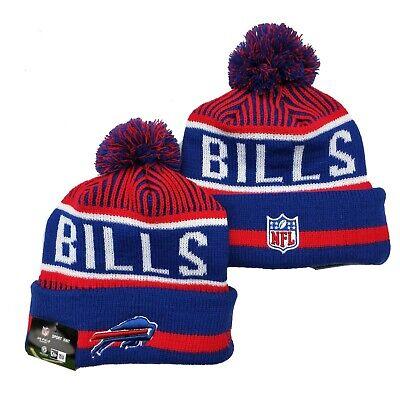 NEW ERA NFL Buffalo Bills On field Sideline Beanie Winter Pom Knit Cap Hat