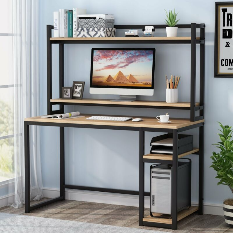 Computer Desk PC Laptop Workstation with Hutch& Shelf Gaming Writing Study Table