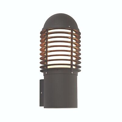 Endon 72385 Louvre Single Outdoor Wall Light Textured Black/Opal Finish