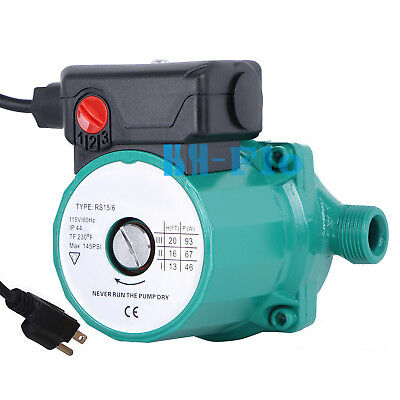 110-120v Automatic Circulating Pump 34 3-speed Hot Water Circulator Pump