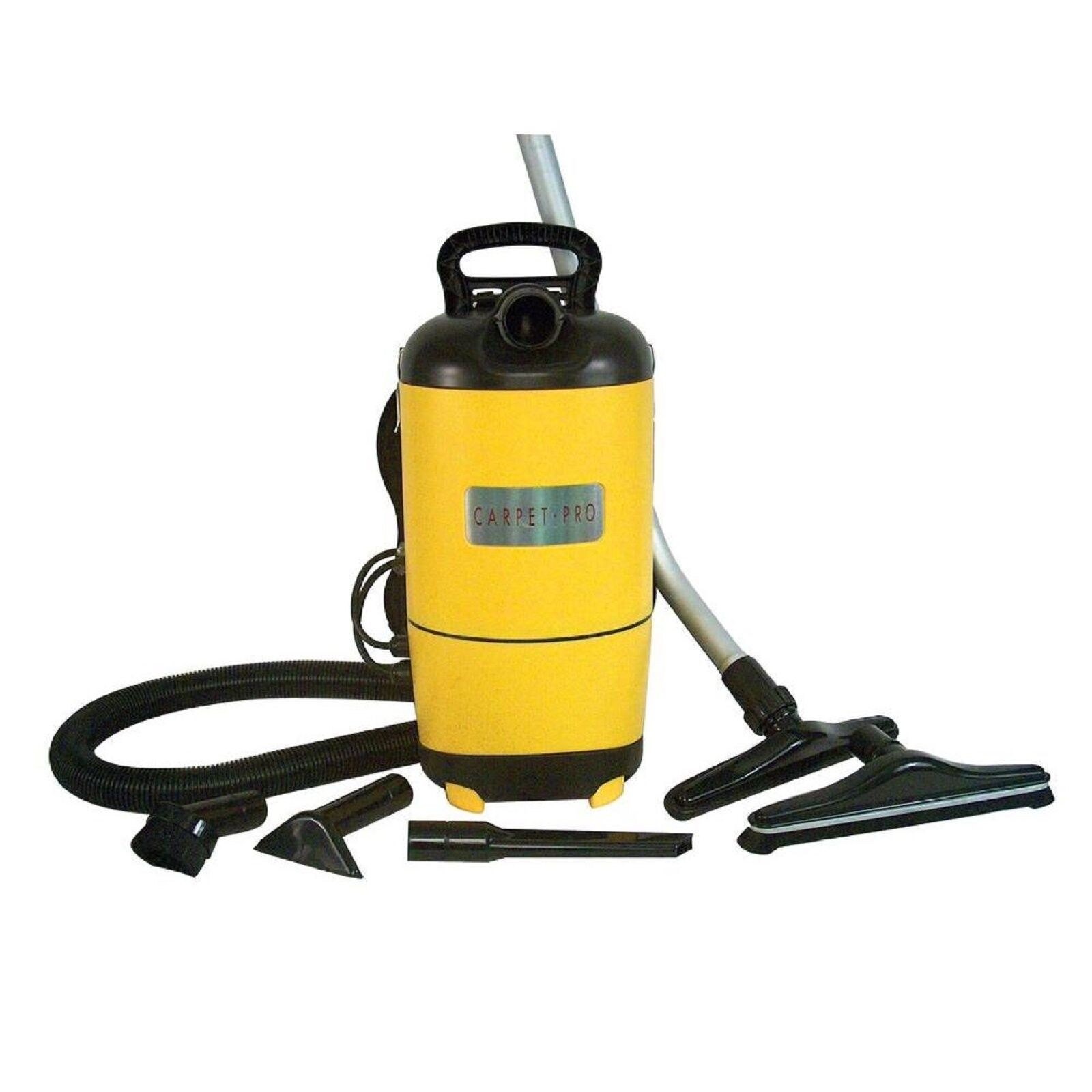 Carpet Pro SCBP1 Backpack Commercial Yellow Vacuum Cleaner