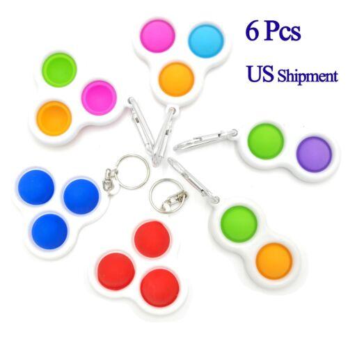 6 Mini Simple Dimple Fidget Toy Sensory Toys Simple Dimples Fidget Bubble Popper