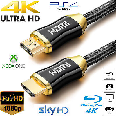 2017 NEW 3D HDMI Cable 4K HighSpeed Premium Braided 4K 25ft 30ft 50ft 66ft 1080P