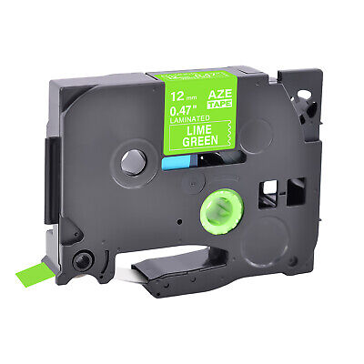 Tz Tze-mqg35 White On Lime Green Label Tape For Brother P-touch Pt-2730 12