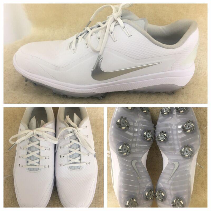 Nike React Vapor 2 Women's Sz 8.5 40 Golf Shoes White Lace Up BV1139-100 Low Top