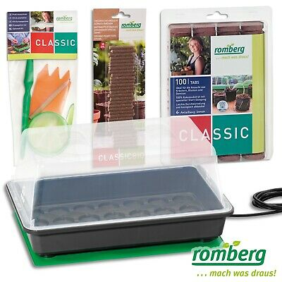 Romberg 4er-Set: Thermal M Greenhouse+Quelltabs+Fertilizer+Anzucht-Set