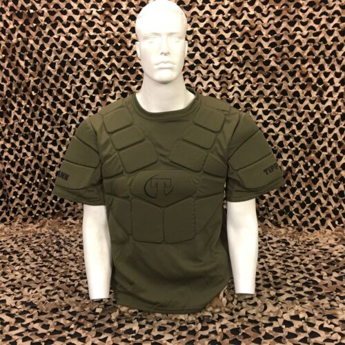 NEW Tippmann Padded Paintball Airsoft Chest Protector - Olive