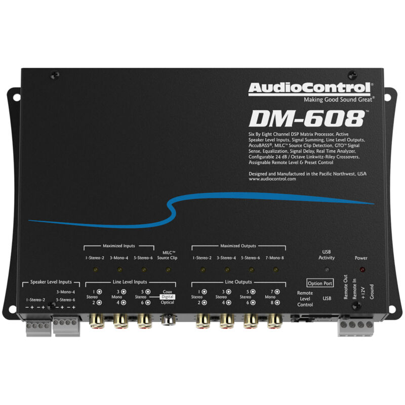AudioControl DM-608 6 x 8 out Matrix DSP Digital Sound Processor Audio Control