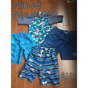 Boys swim clothes size 5/6