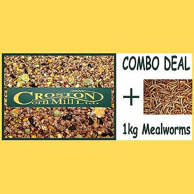 20kg Premium Wild Bird Food + 1Kg Dried Mealworms Combo -  Mix - Mixture - Seed