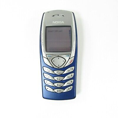 Nokia 6100 - blue (Unlocked) 2G GSM 900 / 1800 / 1900 multiple languages phone