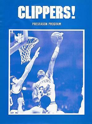 1983 SAN DIEGO CLIPPERS NBA EXHIBITION BASKETBALL PROGRAM - VS TRAILBLAZERS
