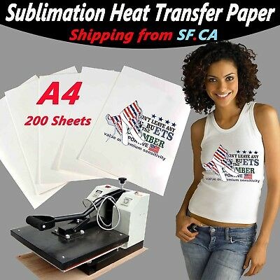 A4200 Sheetsheat Transfer Sublimation Paper 4 Whitelight Color T-shirt