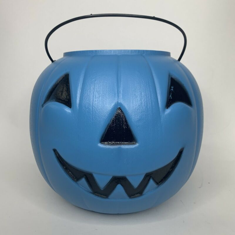 General Foam Plastics Halloween Jack-O-Lantern Pumpkin Candy Pail Tote -USA Blue