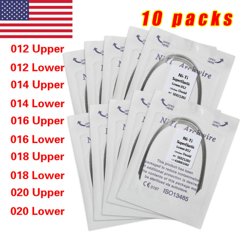 100 PCS Dental Orthodontic Super Elastic Niti Round Arch Wires arch wire Ovoid