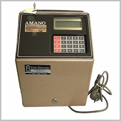 Amano Mjr-8000 Computerized Employee Time Clock With Key Working