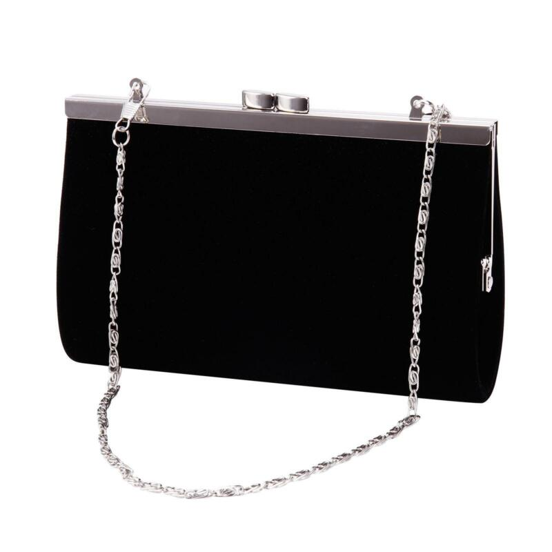 Black Velvet Clutch Bag Ebay