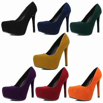 Qupid Women Stiletto High Heels Dress Comfort Office Lady Pointed Toe Shoes