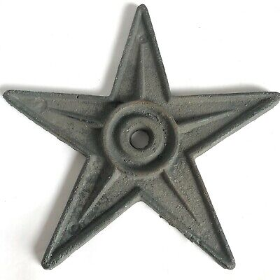 Vintage Cast Iron Architectural Star 9 1/4