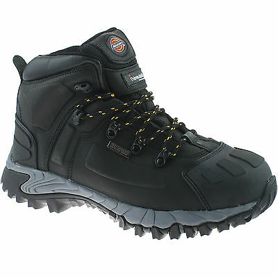 DICKIES MEDWAY BLACK SAFETY BOOTS SIZE UK 9 EU 43 FD23310 WATERPROOF HIKER