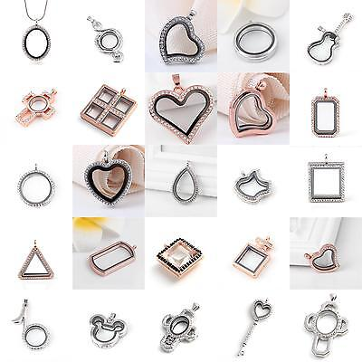 Living Memory Locket Glass Pendants Necklaces For Floating Charms Jewelry Gift - Floating Charm Locket Necklace