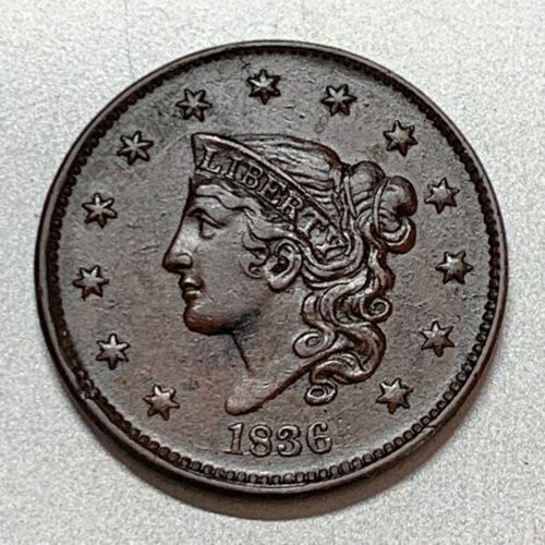 1836 LARGE CENT   N-4   XF   KEY TYPE COIN