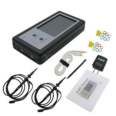 200khz Oscilloscope 2 Channel Mini Oscilloscope Pocket Sized Touch Panel D602 Xr