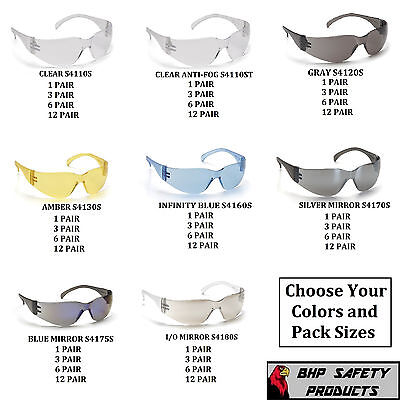 PYRAMEX INTRUDER SAFETY GLASSES ANSI Z87+ COMPLIANT WORK EYEWEAR CHOOSE COLOR!