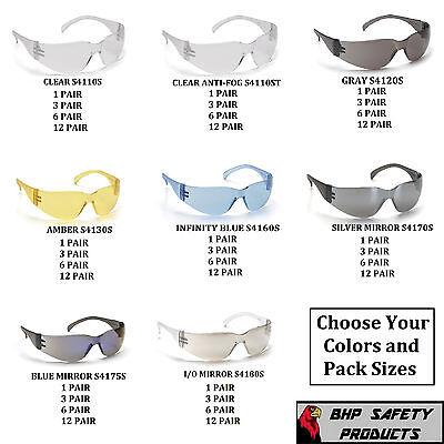 Pyramex Intruder Safety Glasses Ansi Z87 Compliant Work Eyewear Choose Color