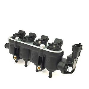 Landirenzo Landi MED Injektor Rail 4 Zylinder GI 25-65 schwarz kpl. mit Sensor
