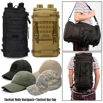 50L Military Tactical Molle Backpack Waterproof Camping Hiki