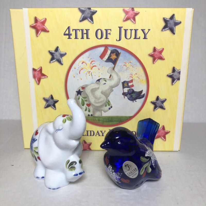 Fenton 4Th of July Holiday Parade Bird Elephant w/Box
