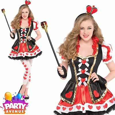 Queen of Hearts Girls Teen Alice In Wonderland Costume
