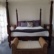 King Size Four Poster Hand Carved Timber Bed Monterey Rockdale Area Preview