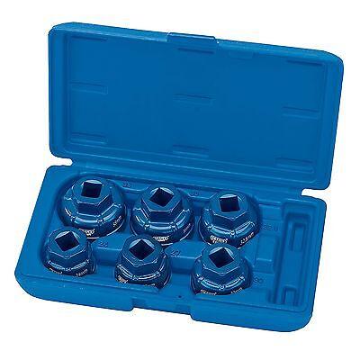 "Draper Expert 6 Piece 1/2"" Square Drive Oil Filter Cap Removal Socket Set- 22491"