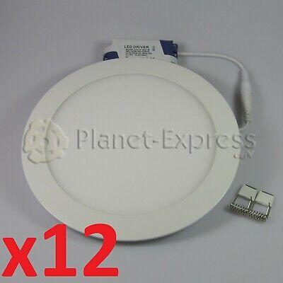 12 x DOWNLIGHT Placa LED 18W redondo Blanco Calido. Driver incluido 220V