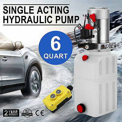 6L Hydraulikaggregat Hydraulik Pumpe 12 V Volt FUNK Reservoir Kipperpumpe GOOD