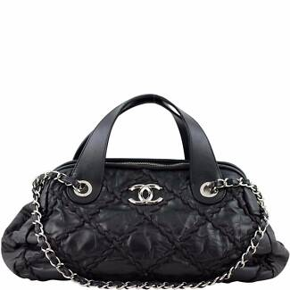 Authentic Chanel Ultra Stitch Bowling Bag