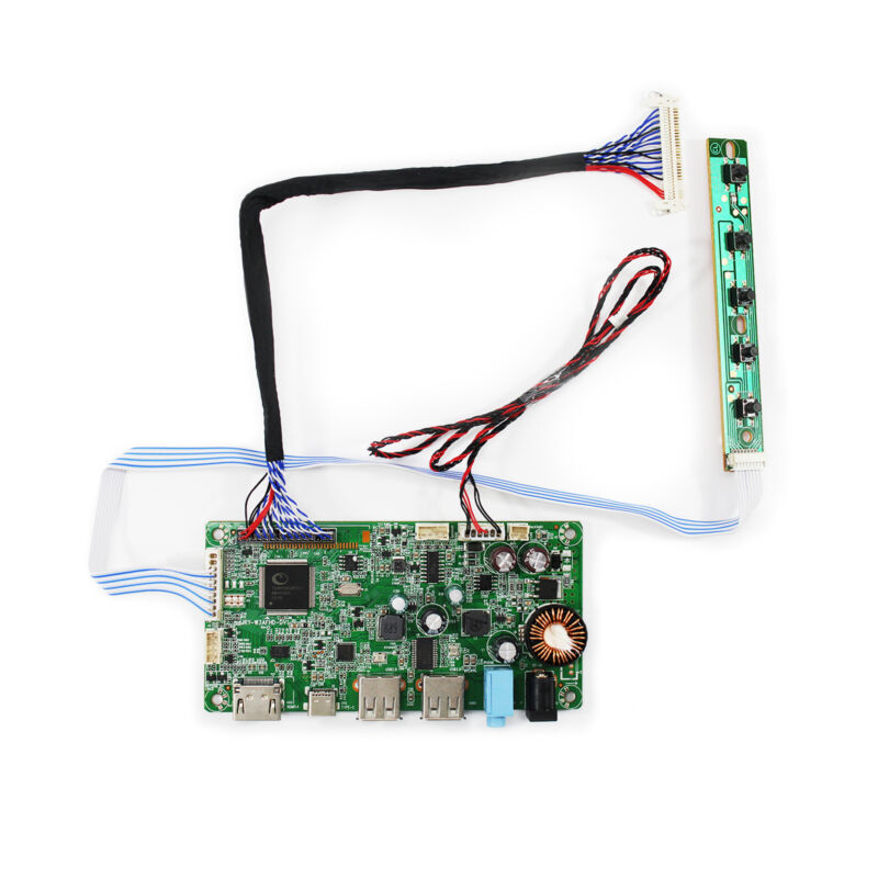 HD MI Type C LCD Controller Board For 21.5 in 1920x1080 6P LED Backlight LCD