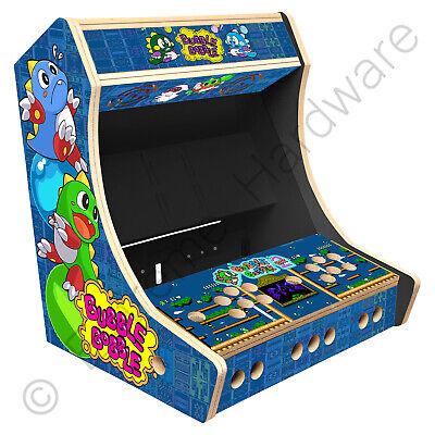 """BitCade 2 Player 19"""" Bartop Arcade Cabinet Machine with Bubble Bobble Artwork"""