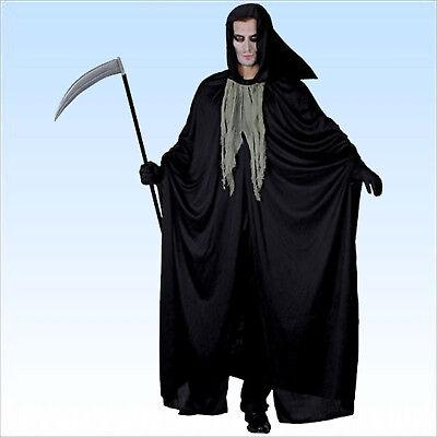 Grim Reaper Kostüm Sensenmann Gr. 48-52 Faschingskostüm Tod f Halloween Fasching (Kostüm Grim Reaper)