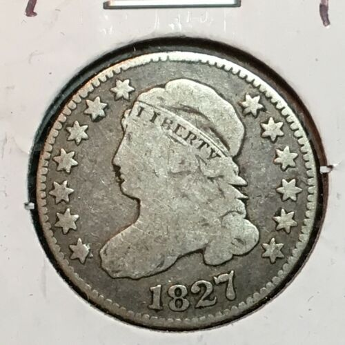 1827   Fine   Capped Bust Dime  Nice Coin  #1