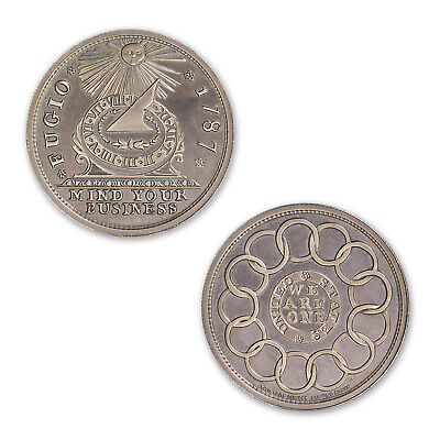 Colonial Currency Series The Fugio Cent 2 oz .999 Silver Round Antiqued USA Coin