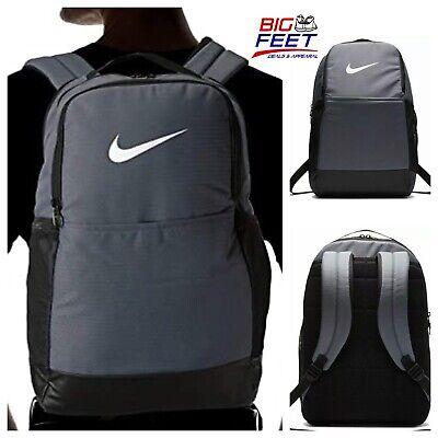 Nike Brasilia Backpack 15' Laptop School Travel Gym Training Bag Gray BA5954 480