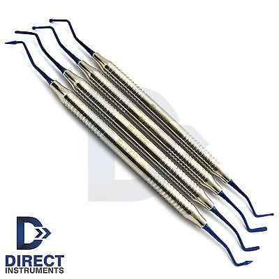 4pcs Dental Composite Filling Instruments Placement Restorative Heidman Spatula