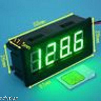 Green Dc 200v Led Digital Volt Panel Meter Voltmeter 0.56 Waterproof Generic