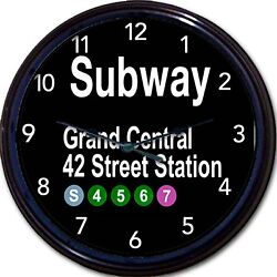 New York City Grand Central Station 42 Street Station Subway Sign Wall Clock 10