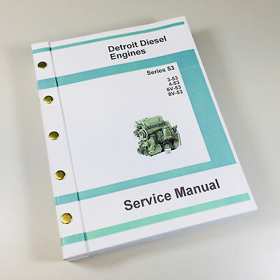 Oliver 1900 1950 Tractor Detroit Diesel 4-53 Engine Service Manual Shop Book